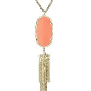 Rayne Necklace Gold with Coral stone